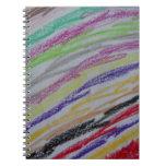 Crayon Drawn Lines Notebook