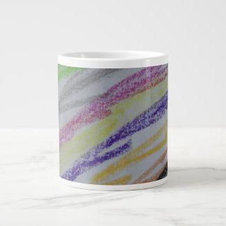 Crayon Drawn Lines Extra Large Mug