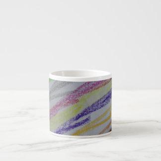 Crayon Drawn Lines Espresso Mug