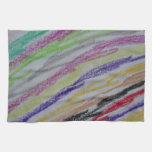 Crayon Drawn Lines Towels