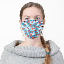 Crayon Elmo Stripe Pattern Adult Cloth Face Mask