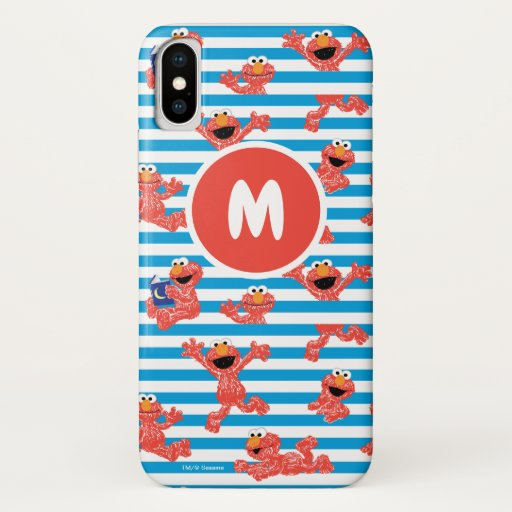 Crayon Elmo Stripe Pattern iPhone X Case