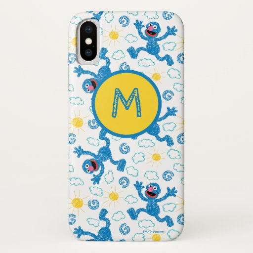 Crayon Grover Sunshine Pattern iPhone X Case