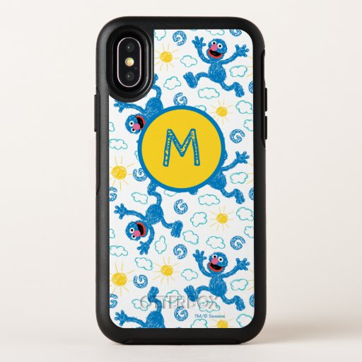Crayon Grover Sunshine Pattern OtterBox Symmetry iPhone X Case