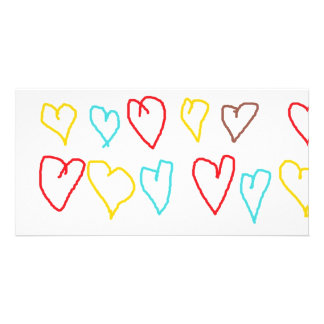 Crayon Hearts Card