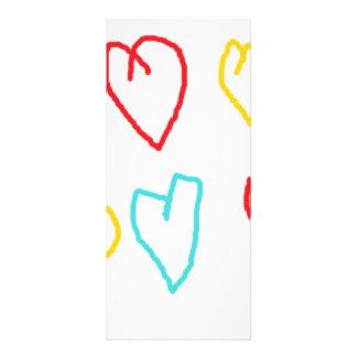 Crayon Hearts Custom Rack Card