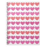 Crayon Hearts Spiral Notebook