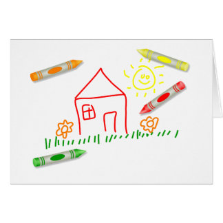 Crayon House Card