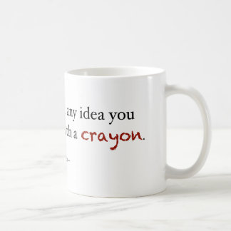 Crayon investing classic white coffee mug
