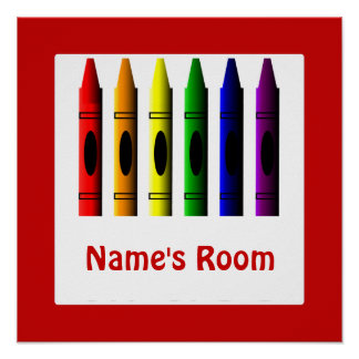 Crayon Kids Room Red Crayons Poster Template