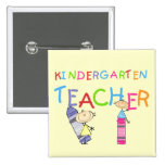 Crayon Kindergarten Teacher Tshirts and Gifts Pinback Buttons