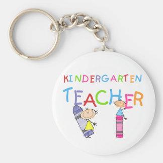 Crayon Kindergarten Teacher Tshirts and Gifts Basic Round Button Keychain