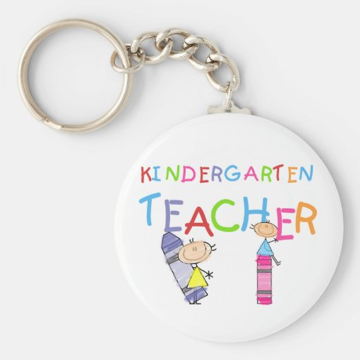 Crayon Kindergarten Teacher Tshirts and Gifts Key Chains
