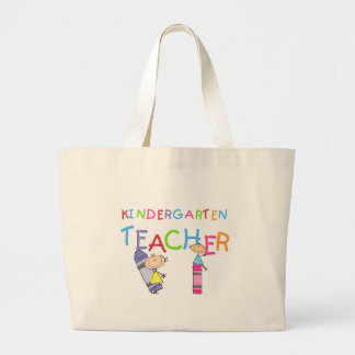 Crayon Kindergarten Teacher Tshirts and Gifts Large Tote Bag
