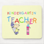 Crayon Kindergarten Teacher Tshirts and Gifts Mouse Mats