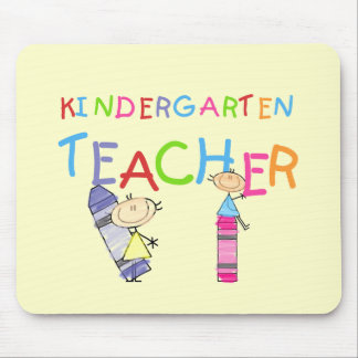 Crayon Kindergarten Teacher Tshirts and Gifts Mouse Pad