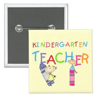 Crayon Kindergarten Teacher Tshirts and Gifts Pinback Button