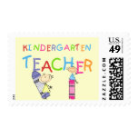 Crayon Kindergarten Teacher Tshirts and Gifts Stamps