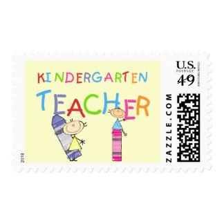 Crayon Kindergarten Teacher Tshirts and Gifts Stamps