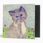 Crayon Kitten 3 Ring Binder