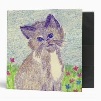 Crayon Kitten 3 Ring Binder