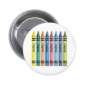 Crayon Line 2 Inch Round Button