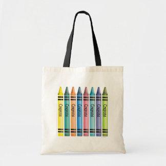 Crayon Line Budget Tote Bag