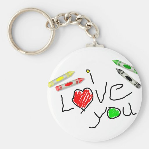 Crayon Love Keychain