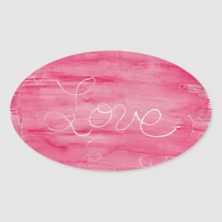 Crayon Love: Love is Messy Oval Sticker