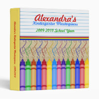Crayon Masterpieces 3 Ring Binder