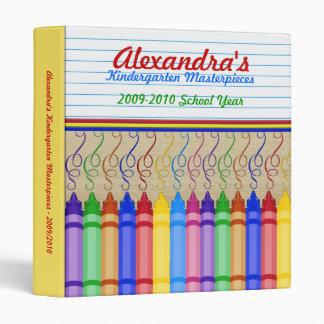 Crayon Masterpieces Vinyl Binder