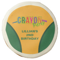 Crayon Party Sugar Cookie