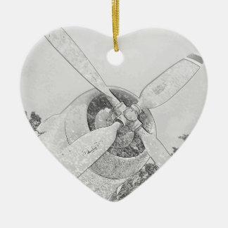 Crayon-plane Ceramic Ornament