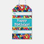 Crayon Polka Dot Gift Tags at Zazzle
