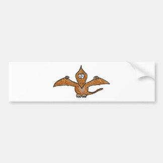 Crayon Pterodactyl Dinosaur Collection Bumper Sticker