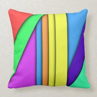 Crayon Rainbow Throw Pillow