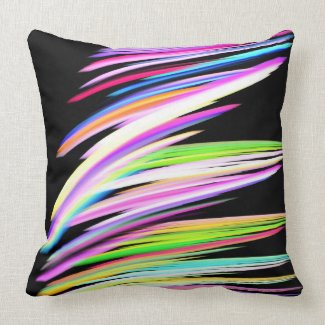 Crayon Scribble American Mojo Throw Pillow