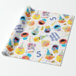 "Crayon Sesame Pals Party Pattern Wrapping Paper<br><div class=""desc"">Check out this festive Sesame Street birthday party pattern drawin in crayon style,  featuring Elmo,  Big Bird,  Cookie Monster,  Bert,  Grover,  Zoe,  and Rosita!</div>"