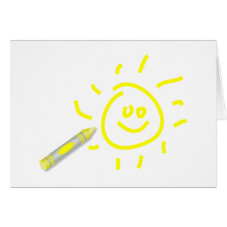 Crayon Sun Greeting Card