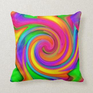 Crayon Swirls Throw Pillow
