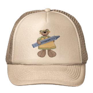 Crayon Teddy Bear Trucker Hat
