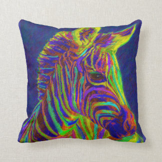 crayon zebra throw pillow