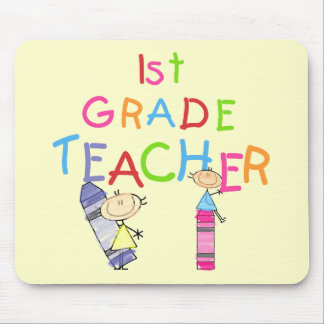 Crayons 1st Grade Teacher Tshirts and Gifts Mouse Pad