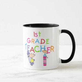 Crayons 1st Grade Teacher Tshirts and Gifts Mug