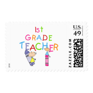 Crayons 1st Grade Teacher Tshirts and Gifts Postage