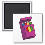 crayons 2 inch square magnet