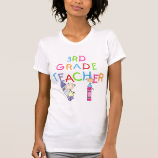 Crayons 3rd Grade Teacher Tshirts and Gifts