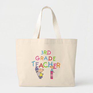 Crayons 3rd Grade Teacher Tshirts and Gifts Large Tote Bag
