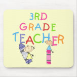 Crayons 3rd Grade Teacher Tshirts and Gifts Mouse Pad