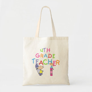 Crayons 4th Grade Teacher T-shirts and Gifts Canvas Bags